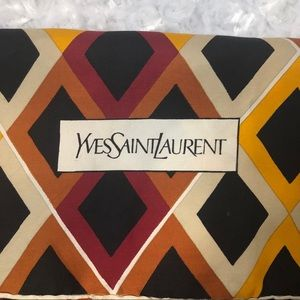 Yves Saint Laurent Printed Scarf Geometric Print